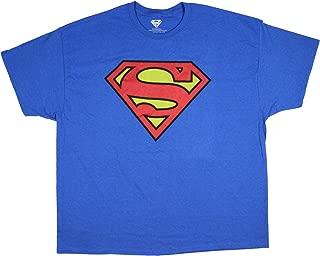DC Comic Superman Shirt Shield Logo Symbol Men's Big and Tall Superhero Tee