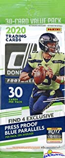 2020 Donruss NFL Football HUGE Factory Sealed JUMBO FAT Pack with 30 Cards Including (4) EXCLUSIVE BLUE PARALLELS! Look fo...