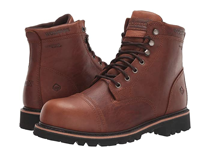 Edwardian Men's Shoes & Boots | 1900, 1910s Wolverine Journeyman 6 Boot Brown Mens Work Lace-up Boots $174.95 AT vintagedancer.com