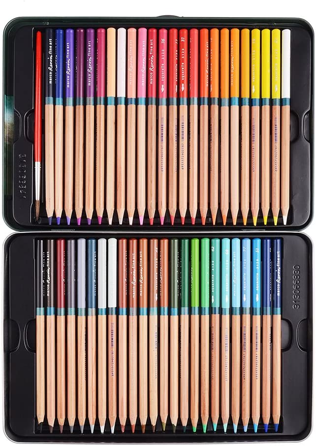 Marco Renoir Fine 48 shopping Colors Water Popularity Non Drawing Pencil Soluble Set
