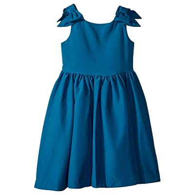 Janie and Jack Special Occasion Bow Sleeve Dress (Toddler/Little Kids/Big Kids) (Ink Blue) Girl