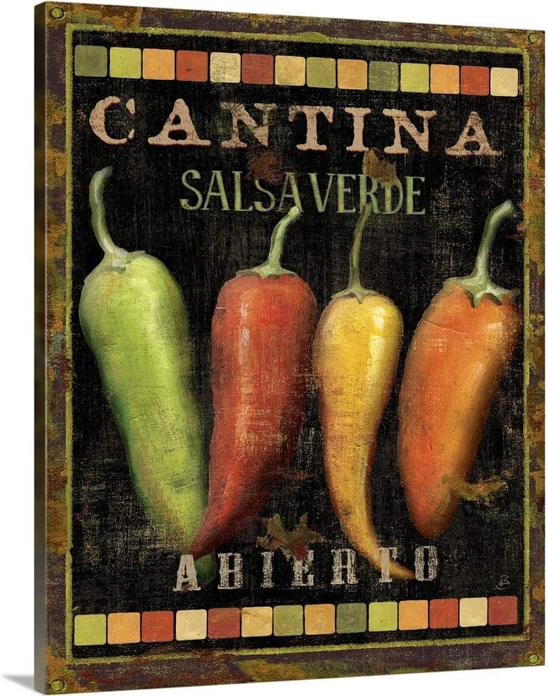 New Free Shipping Cantina I Canvas Wall Art Artwork Chili All stores are sold Print Pepper