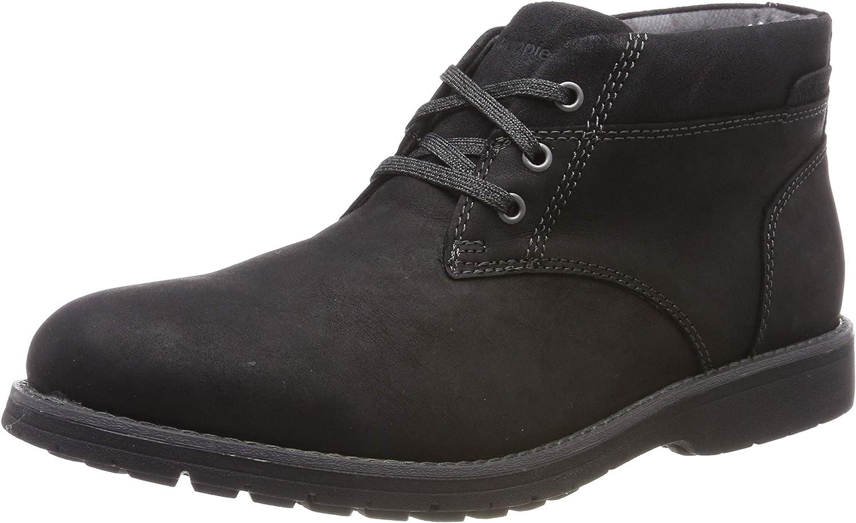 Hush Puppies Mens Beauceron Plain Toe Chukka Boot Black Size UK 7 EU 41