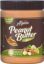 Alpino Organic Natural Peanut Butter Smooth 400g (Unsweetened / Gluten Free / Non-GMO)