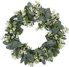 TEGT 1 stuk witte simulatie slinger Lysimachia ring veld hanger deurklopper rond blad decoratie