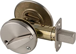 Schlage B571 One Sided Deadbolt with In Use Indicator, Satin Brass