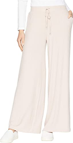 Morning Mood Brushed Rib Wide Leg Pants