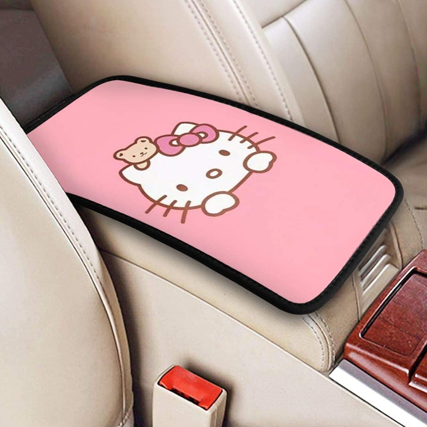 zinanzixun Auto Center Console Selling and selling Armrest Pad In a popularity Stylish H Pink Cover