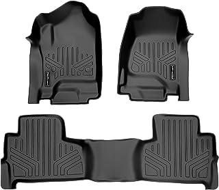 SMARTLINER Custom Fit Floor Mats 2 Row Liner Set Black for 2015-2020 Chevrolet Tahoe / GMC Yukon
