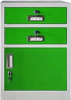WANGXIAOYUE Armoire de classement avec verrou - Armoire de rangement pour le bureau, les fichiers - Casier en métal - Prot...