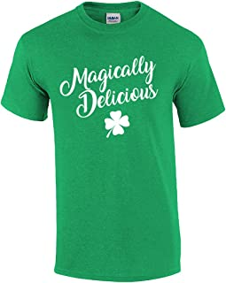 Funny St Patricks Day Magically Delicious Script Graphic T-Shirt