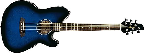 Ibanez 6 String Acoustic Guitar, Right Handed, Transparent Blue Sunburst (TCY10ETBS)