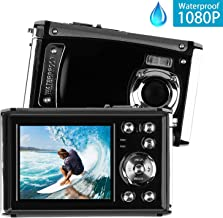 Underwater Digital Camera, Heegomn 12MP 1080P Waterproof Digital Camera, Digital Video Camera for Kids Students, Waterproof Sports Camera with 8X Digital Zoom, Rechargeable Battery