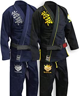 SHOGUN Fight Jiu Jitsu Gi Ultra Light 'Kanji' 350gsm Pearl Weave Cotton Premium BJJ