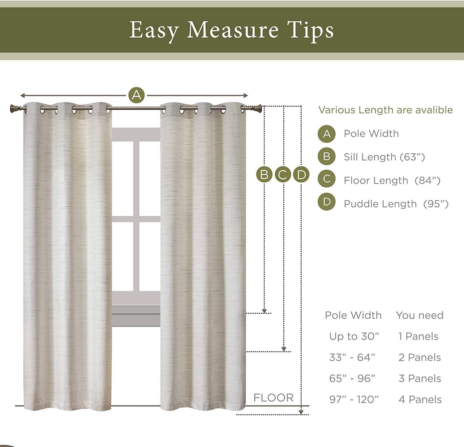 Buy Hyde Lane Rustic Modern Curtains For Living Room Farmhouse Bedroom Window Treatment Grasscloth Faux Linen Room Darkening Grommet Top Decor Off White 40x63 Inches 2 Panels Online In Indonesia B082m172z3