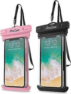 ProCase 2 Fundas Impermeables para Celulares como iPhone 12 Mini/Pro/Pro MAX/SE 2020/X/8 7 Plus/6S/6/6S Plus, Galaxy S20/S...