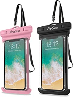 ProCase Universal Waterproof Case Cellphone Dry Bag Pouch for iPhone 11 Pro Max Xs Max XR XS X 8 7 6S Plus, Galaxy S10 Plus S10 S10e S9+/Note 10 10+ 5G 9 8, Pixel 3 XL up to 6.8