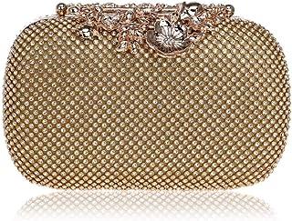 Shoulder Bag Diamond Flower Dinner Bag Ladies Hand Holding Banquet Package Handbag Clutch (Color : Gold, Size : -)