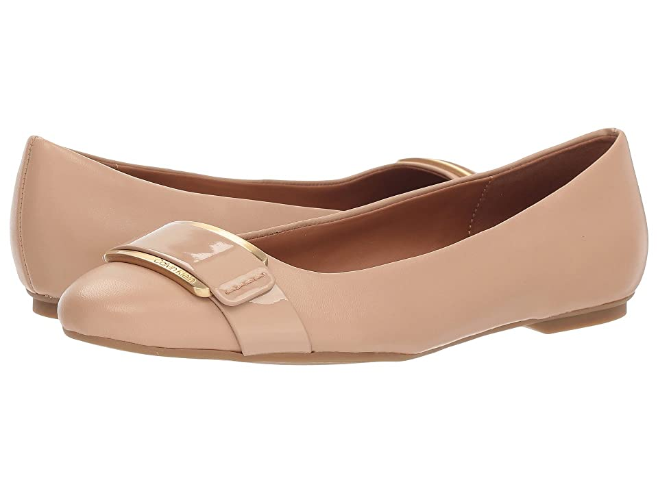 Calvin Klein Oneta (Desert Sand Nappa/Patent Smooth) Women