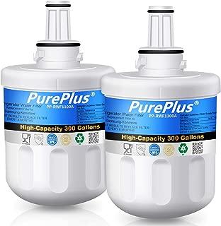 PUREPLUS DA29-00003G Refrigerator Water Filter, Compatible with Samsung DA29-00003B, DA29-00003A, RSG257AARS, RFG237AARS, DA29-00003F, HAFCU1, RFG297AARS, RS22HDHPNSR, WSS-1, WFC2201 (Pack of 2)
