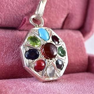 Multi Gemstone Pendant Multi Stone Pendants | Aqeeq Turquoise Dur e najaf Yaqoot Emerald Peridot