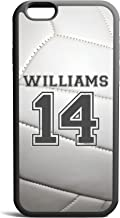 CodeiCases iPhone 6 Plus/6s Plus Volleyball Case With Name And Number, Volleyball Custom Case, Cover Rubber Black Volleyball iPhone Case