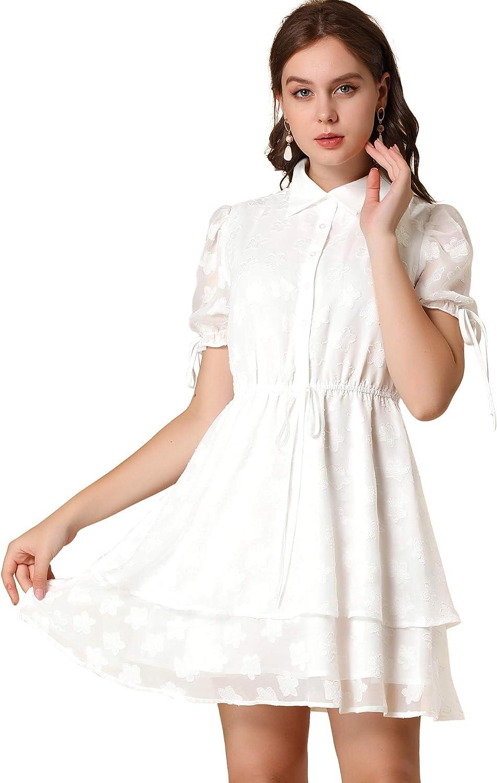 Allegra Topics on TV K Women's Peter Pan Collar Chiffon Drawstring Super sale period limited Lay Floral