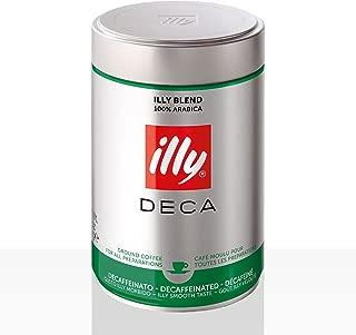 Illy Coffee Decaffeinated Ground Coffee (Medium Roast) Coffee, 8.8 Ounce ,Pack of 2