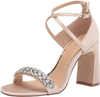 Jewel Badgley Mischka Women's Ornamented Sandal Heeled