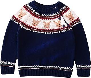 9b4ca1291d065 GEMVIE Pull en Tricot Enfant Bébé Fille Garçon Col Rond Manches Longues  Sweater Vêtement Coton Souple