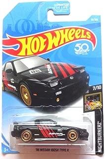 Hot Wheels 2018 50th Anniversary Nightburnerz '96 Nissan 180SX Type X 91/365, Black