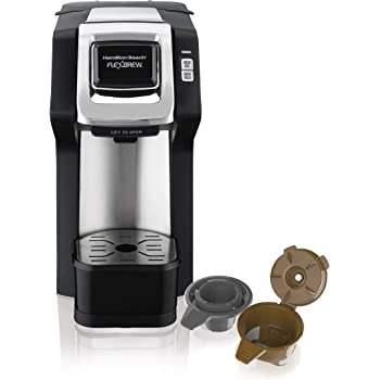 Hamilton Beach (49979) Single Serve Coffee Maker,Compatible withpod Packs and Ground Coffee, Flexbrew with Adjustable Brew Strength, Black