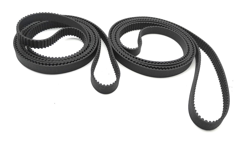 Correa de distribuci/ón GT2 cerrada 6 mm ancho por 2 pieza 98mm