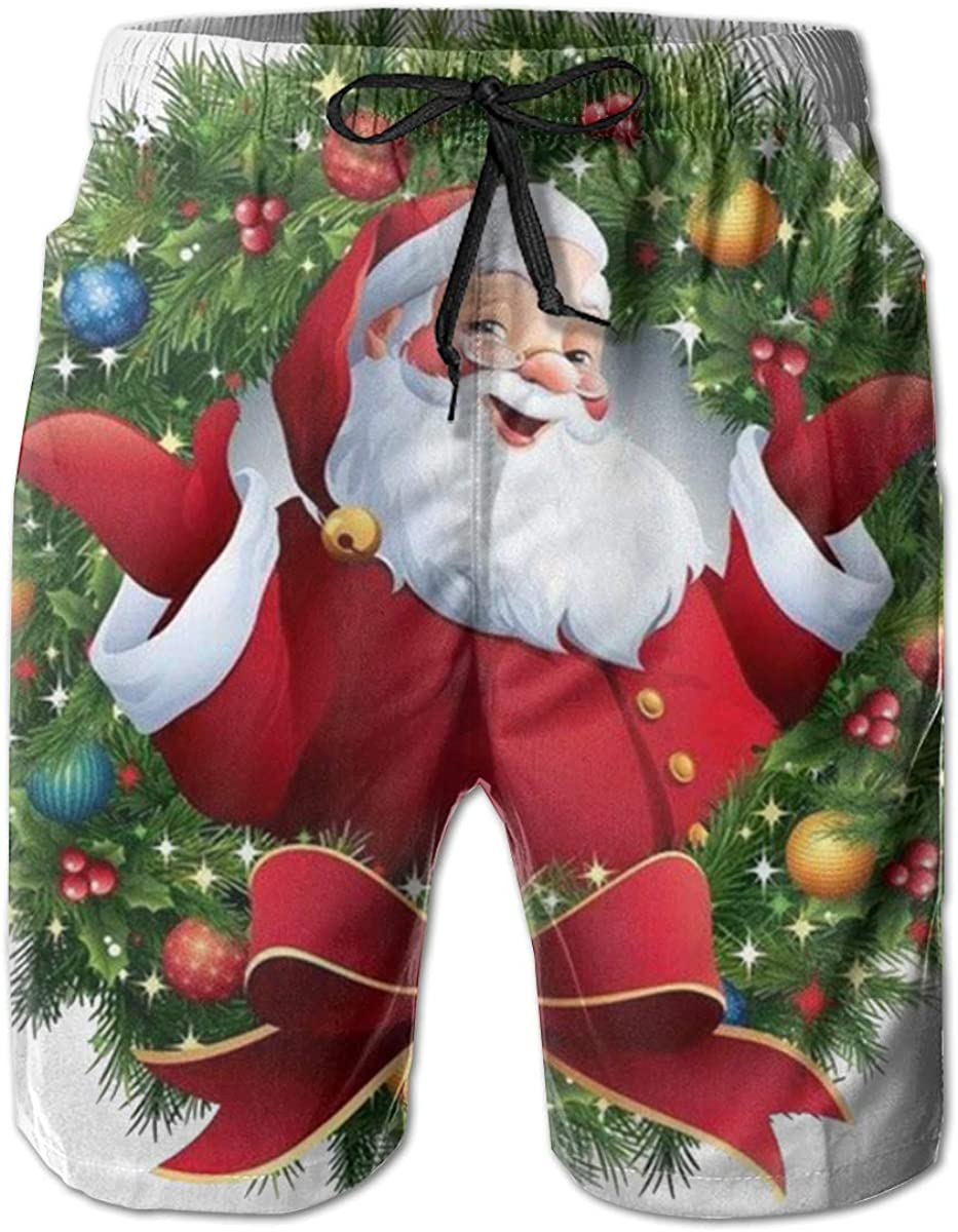 Translated Men's Santa Claus Christmas Quick Classic Trunks Short Dry Swim Fashion