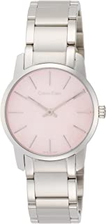Calvin Klein City Women's Pink Mother Of Pearl Dial Stainless Steel Watch - K2G2314E