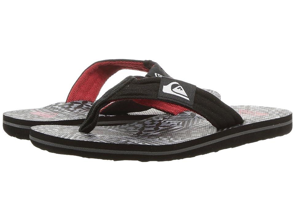 Quiksilver Kids Molokai Layback (Toddler/Little Kid/Big Kid) (Black/White/Black) Boys Shoes