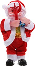 KESYOO Electric Santa Claus Doll Christmas Santa Clause Figurine Plush Santa Doll for Xmas Holiday Seasonal Party Favor Ta...