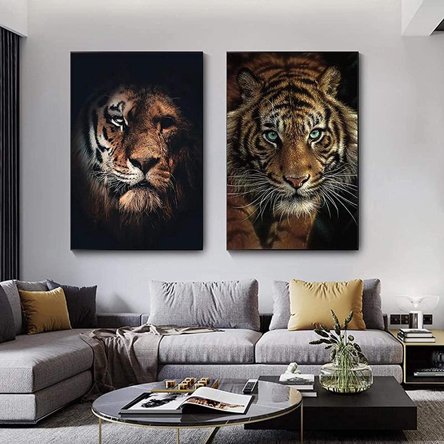 Quality inspection WJYZZT Artwork 2 Piece 15.7x23.6in No Frame Wil 40x60cm Beauty products African