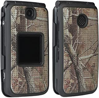 Case for Alcatel Go Flip V, Nakedcellphone [Outdoor Camouflage] Tree Leaf Real Woods Camo Protective Cover for Alcatel Go ...