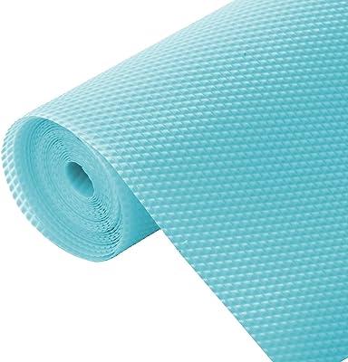 Kuber Industries Multipurpose Diamond Textured Super Strong Anti-Slip Mat Liner,Size 45X150 cm (1.50 Meter Roll, Light Blue) - CTKTC45489