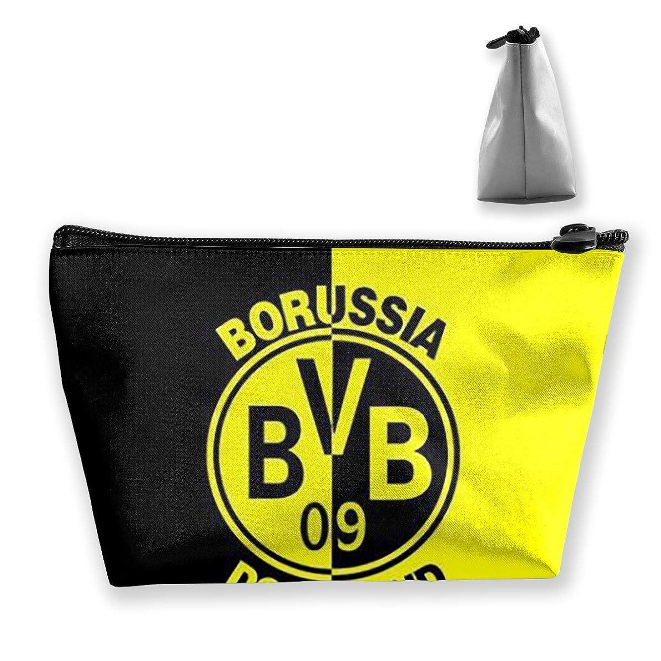 出発申請中割れ目Borussia Dortmund 台形 化粧ポーチ メイクポーチ コスメポーチ 軽い 防水 便利 小物入れ 携帯便利 多機能 バッグ 化粧品収納