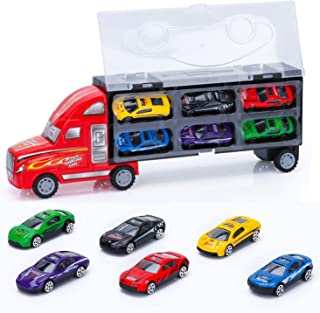 Car Carrier Truck Toys for Kids Boy toy car model inertial sliding portable transport container truck toy box Car Carrier ...