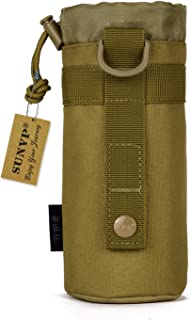 Huntvp Tactical Military Water Bottle Pouch Outdoors 900D Nylon Molle Kettle Bag Holder