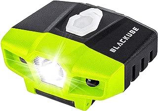 Blackube USB Rechargeable Cap Hat Light Ball Cap Visor Light - Clip Headlamp Hands Free Rotatable Cree LED Portable Clip on Cap Light for Reading Hunting Fishing Running