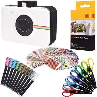 Kodak Papel fotográfico Premium Zink (50 hojas) + álbum de recortes para cámara + 100 pegatinas para bordes de fotos + 10 ...