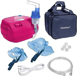 Omnibus BR-CN116B - Nuevo inhalador compresor Nebulizador Inhalador compacto para nebulizador inhaladores bebe electrico, Rosa