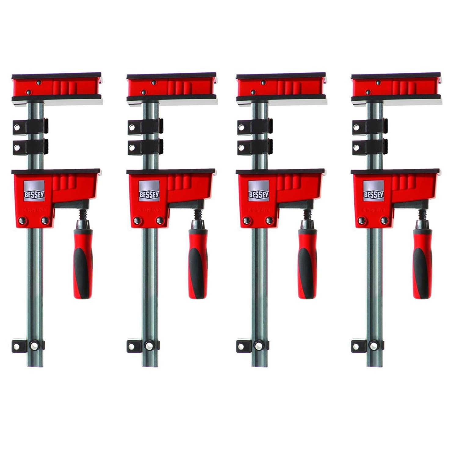 Bessey KR3.518 18-inch K-Body REVO Large Parallel Clamps with Handle, 4-Pack