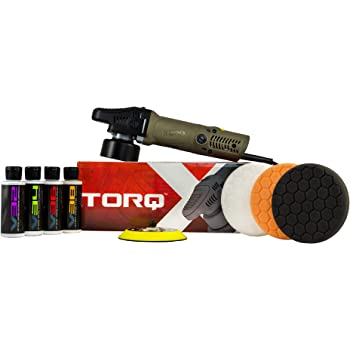 Chemical Guys BUF_503X TORQX Random Polisher Kit with Pads, Polishes & Compounds (9 Items)