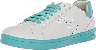 حذاء رياضي DJ Rock Girl 4 من Geox ، أبيض/بحيرة، 30 M EU طفل صغير (12 US)