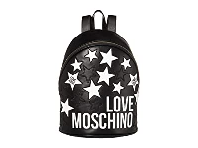 LOVE Moschino Stars Backpack (Black) Backpack Bags